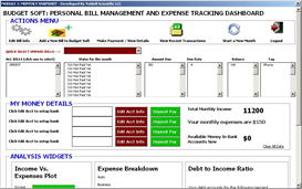 budget soft (personal bill mgt and expense tracking dashboard)