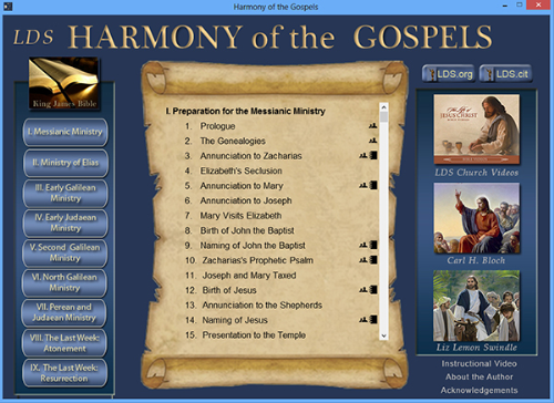 Fourth Additional product image for - Harmon of the Gospels (Windows Version)