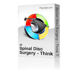 spinal disc surgery - think twice, no, twenty times  by professor majid ali md