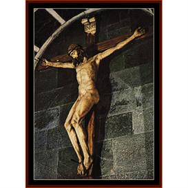 crucifix - brunellesch cross stitch pattern by cross stitch collectibles
