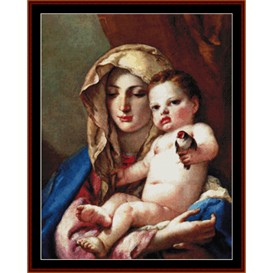 madonna of the goldfinch - tiepolo cross stitch pattern by cross stitch collectibles