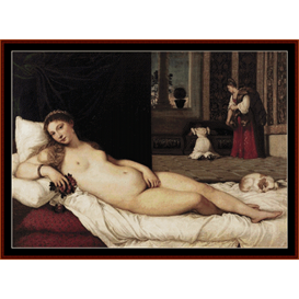Venus of Urbino - Titian cross stitch pattern by Cross Stitch Collectibles | Crafting | Cross-Stitch | Wall Hangings