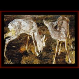 Deer at Dusk - Franz Marc cross stitch pattern by Cross Stitch Collectibles | Crafting | Cross-Stitch | Wall Hangings