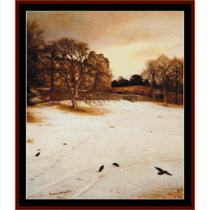 Christmas Eve, 1887 - Millais cross stitch pattern by Cross Stitch Collectibles | Crafting | Cross-Stitch | Other