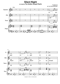 silent night - sat + piano acc. parts with playback track (set 2)
