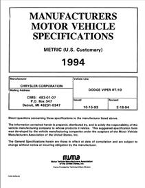 1994 dodge viper mvma