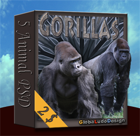 gorilla psd pack