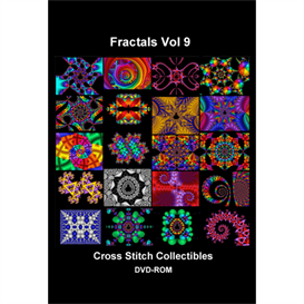 fractal dvd vol 9 cross stitch pattern by cross stitch collectibles