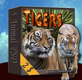 tiger psd pack