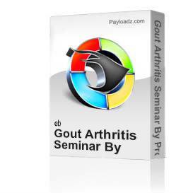 gout arthritis seminar by professor majid ali