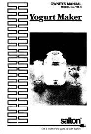 Salton Yogurt Maker YM-9 Manual | Documents and Forms | Manuals