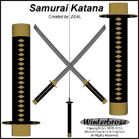 samurai katana 3d model standard obj/mtl