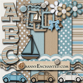 Granny Enchanteds Beach Brown Sailing Kit 28 | Crafting | Paper Crafting | Other