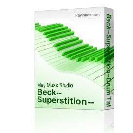 beck--superstition--drum tab