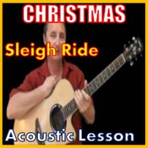 learn to play sleigh ride on the acoustic