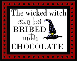 wicked witch bribed with chocolate machine embroidery file