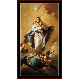 immaculate conception - tiepolo cross stitch pattern by cross stitch collectibles