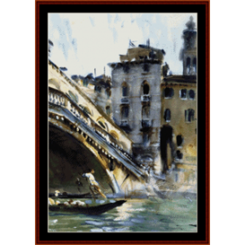 the rialto, venice - sargent cross stitch pattern by cross stitch collectibles