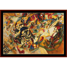 Composition VII - Kandinsky cross stitch pattern by Cross Stitch Collectibles | Crafting | Cross-Stitch | Wall Hangings