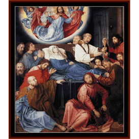death of the virgin - van der goes cross stitch pattern by cross stitch collectibles