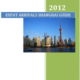 shanghai guide - for expats and business travellers