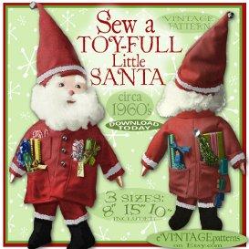 toyful little santa cloth doll vintage pattern