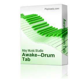 awake--drum tab