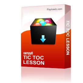 tic toc lesson