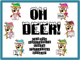 oh deer christmas scramble bulletin board kit