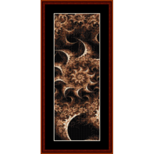 fractal 373 bookmark cross stitch pattern by cross stitch collectibles