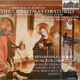 schütz: the christmas oratorio (1664); renaissance choral christmas music