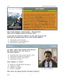 2012, whole-movie english (esl) lesson