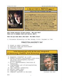 A BEAUTIFUL MIND, Whole-Movie English (ESL) Lesson | eBooks | Education