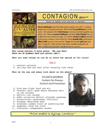 CONTAGION, Whole-Movie English (ESL) Lesson | eBooks | Education