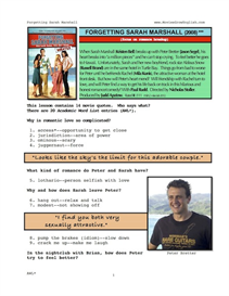 FORGETTING SARAH MARSHALL, Whole-Movie English (ESL) Lesson | eBooks | Education