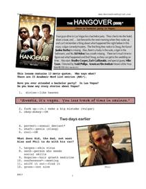 hangover, whole-movie english (esl) lesson