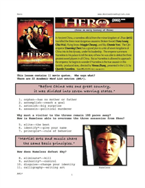 hero, whole-movie english (esl) lesson
