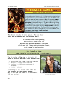 the hunger games, whole-movie english (esl) lesson