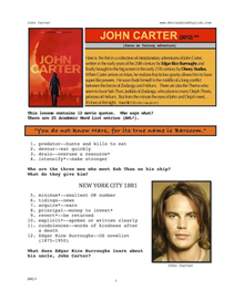 john carter, whole-movie english (esl) lesson