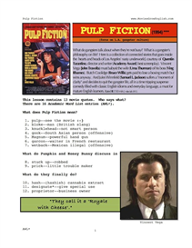 pulp fiction, whole-movie english (esl) lesson