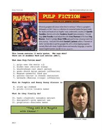 PULP FICTION, Whole-Movie English (ESL) Lesson | eBooks | Education