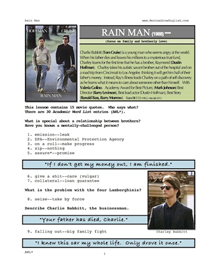 rain man, whole-movie english (esl) lesson