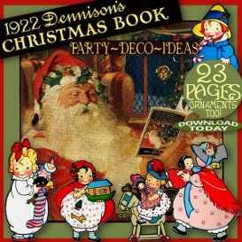 1920's dennison christmas xmas book vintage art deco party decoration ideas bogie bk