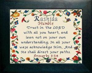 Name Blessings -  Rashida | Crafting | Cross-Stitch | Other