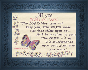 Name Blessings -  Alyce | Crafting | Cross-Stitch | Religious