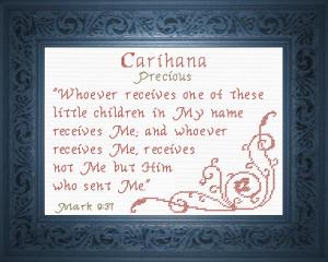 name blessings -  carihana
