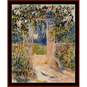 the garden gate - monetcross stitch pattern by cross stitch collectibles