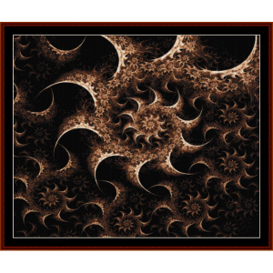 fractal 373 cross stitch pattern by cross stitch collectibles