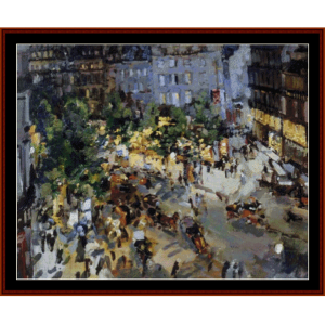 paris blvd. des capucnies - korovincross stitch pattern by cross stitch collectibles