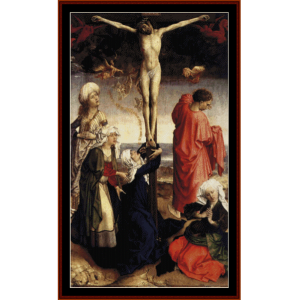 crucifixion - van der weydencross stitch pattern by cross stitch collectibles